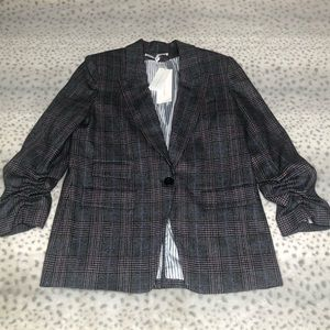 Veronica Beard Glen Plaid Dickey Jacket Wool